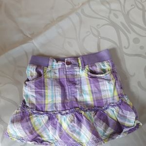 4/$15 size 4 purple plaid little girl skort